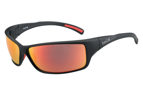 Bolle - Slice Matte Black Sunglasses, TNS Fire Lenses