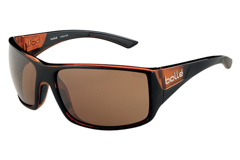 Bolle Tigersnake Shiny Black/Matte Brown Sunglasses, TLB Dark Lenses
