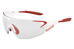 Bolle - 5th Element Pro Matte White/Red Sunglasses, Modulator Clear Grey Oleo AF Lenses