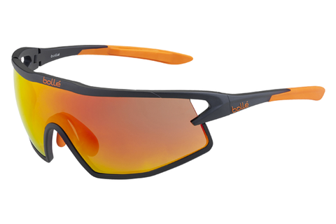 Bolle - B-Rock Matte Black & Orange Sunglasses, TNS Fire Oleo AF Lenses