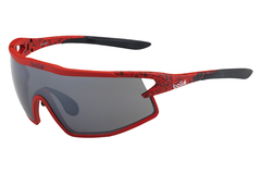 Bolle - B-Rock Matte Black & Red Sunglasses, TNS Gun Oleo AF Lenses