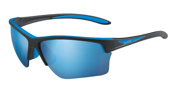 Bolle - Flash Matte Black Sunglasses / BLUE POLARIZED OFFSHORE BLUE OLEO AR Lenses