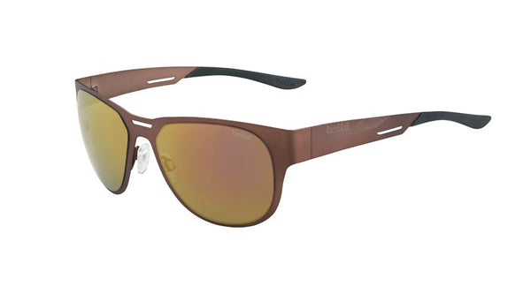 Bolle - Perth Matte Brown Sunglasses / Polarized AG14 Lenses