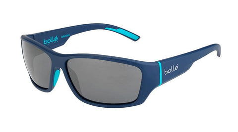Bolle - Ibex Matte Navy Petrol Sunglasses / Polarized TNS Fun Oleo AF Lenses