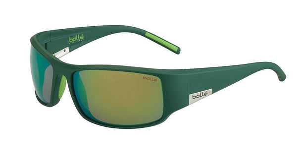 Bolle - King Matte Mono Green Sunglasses / Polarized Brown Emerald Oleo AF Lenses