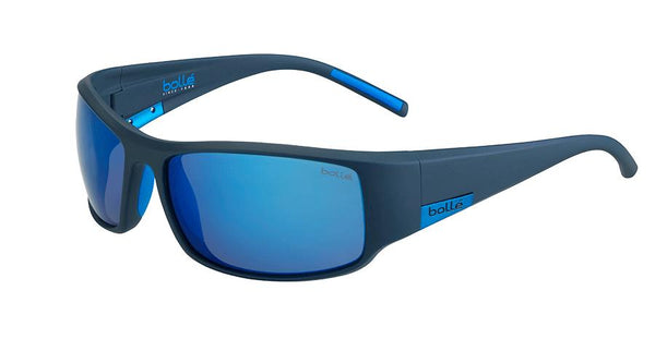 Bolle - King Matte Mono Blue Sunglasses / Polarized Offshore Blue Oleo AF Lenses