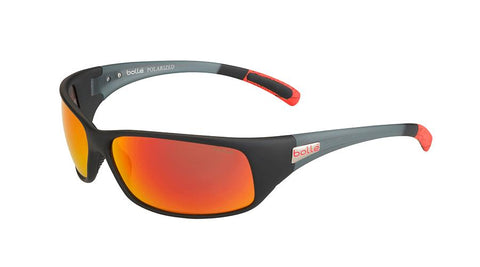 Bolle - Recoil Black Red Sunglasses / Polarized Brown Fire Oleo AF Lenses