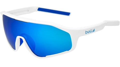 Bolle - Shifter Shiny White Sunglasses / Blue Lenses