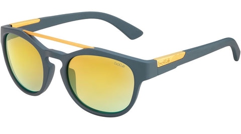 Bolle - Boxton Matte Cool Grey Sunglasses / Gold Lenses