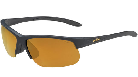 Bolle - Breaker Matte Black Sunglasses / HD Polarized Brown Gold  Lenses