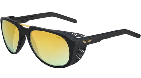 Bolle - Cobalt Matte Black Gold Sunglasses / Brown Gold Lenses