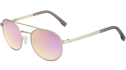 Bolle - Ova Shiny Silver Sunglasses / TNS Gradient Pink Lenses