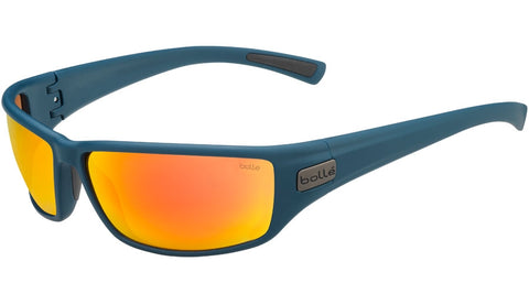 Bolle - Python Matte Navy Sunglasses / HD Polarized Brown Fire Lenses