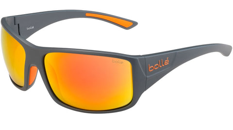 Bolle - Tigersnake Matte Cool Gray Sunglasses / HD Polarized Brown Fire Lenses