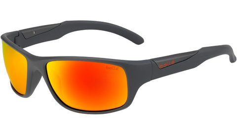 Bolle - Vibe Matte Cool Gray Sunglasses / Brown + Fire Lenses