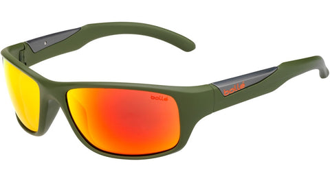 Bolle - Vibe Matte Olive Sunglasses / HD Polarized Brown + Fire Lenses