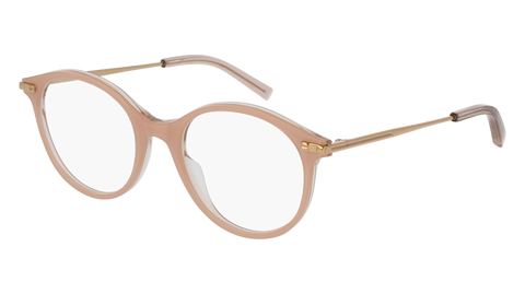 Boucheron - BC0038O Nude Gold Eyeglasses / Demo Lenses