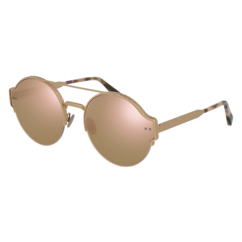 Bottega Venetta - BV0013S Gold Sunglasses / Pink Lenses