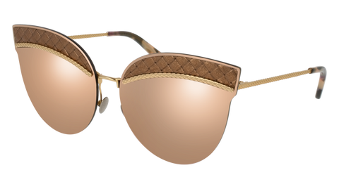 Bottega Venetta - BV0101S Gold Sunglasses / Pink Lenses