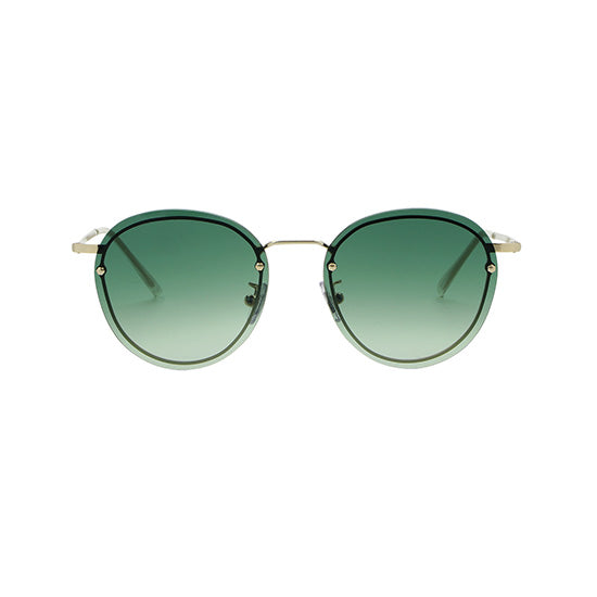 Spektre - Joyce Gold Sunglasses / Green Lenses