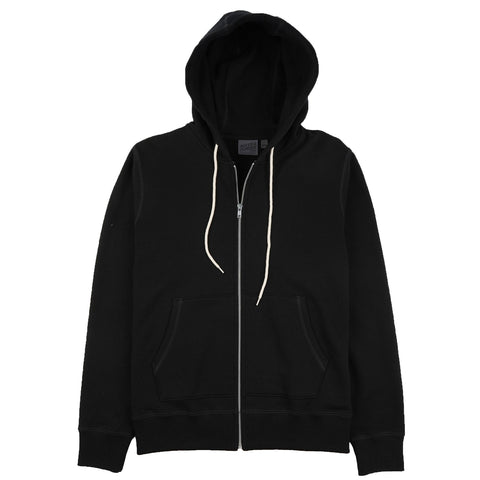 Naked & Famous Denim - Heavyweight Terry Black Zip Hoodie