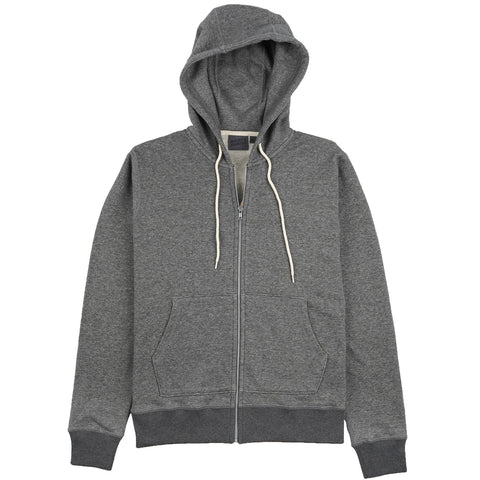 Naked & Famous Denim - Heavyweight Terry Charcoal Zip  Hoodie