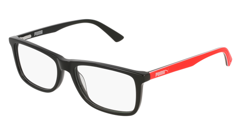 Puma - PJ0020O Black Red Eyeglasses / Demo Lenses