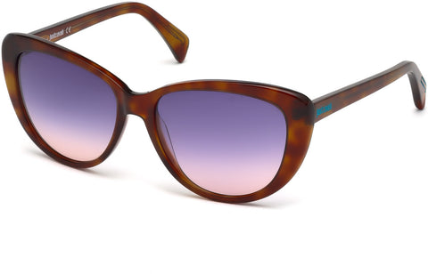 Just Cavalli - JC646S Blonde Havana Sunglasses / Blue Lenses