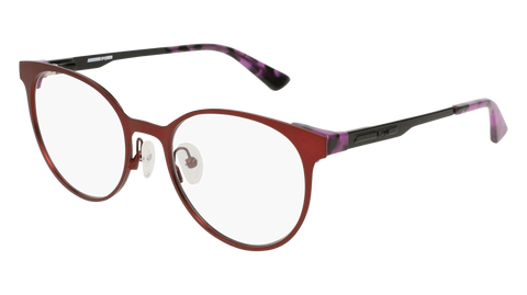 McQ - MQ0133O 52mm Burgundy Eyeglasses / Demo Lenses