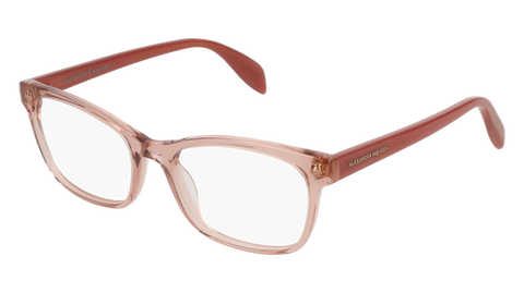 Alexander McQueen - AM0149O Pink Orange Eyeglasses / Demo Lenses