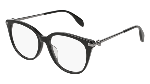 Alexander McQueen - AM0154OA Black Ruthenium Eyeglasses / Demo Lenses