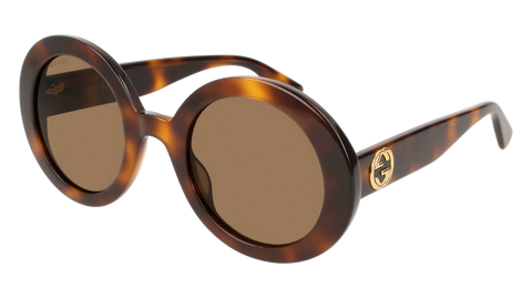 Gucci - GG0319S Havana Sunglasses / Brown Lenses
