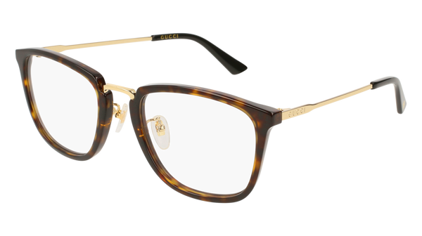 Gucci - GG0323O Gold Havana Eyeglasses / Demo Lenses