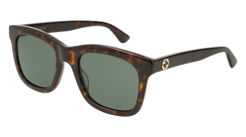 Gucci - GG0326S Havana Sunglasses / Green Lenses