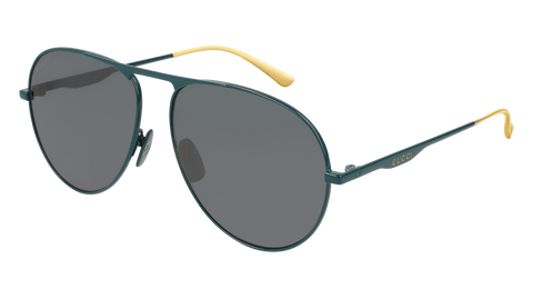 Gucci - GG0334S Green Sunglasses / Grey Lenses