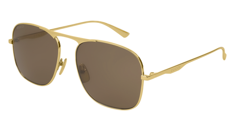 Gucci - GG0335S Gold Sunglasses / Brown Lenses