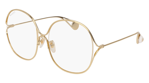 Gucci - GG0362S Gold Sunglasses / Transparent Lenses