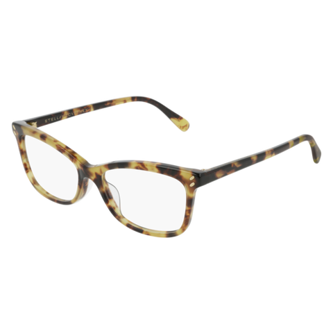 Stella McCartney - SC0156O Light Havana Eyeglasses / Demo Lenses