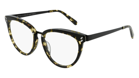 Stella McCartney - SC0162O Dark Havana Eyeglasses / Demo Lenses