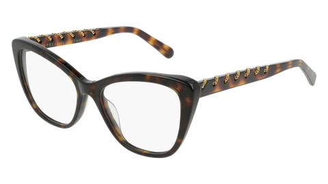Stella McCartney - SC0164O Dark Havana Eyeglasses / Demo Lenses