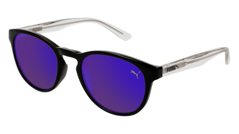 Puma - PJ0024S Black Crystal Sunglasses / Violet Mirror Lenses