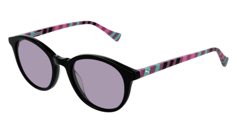 Puma - PJ0034S Black Multi Color Sunglasses / Violet Lenses