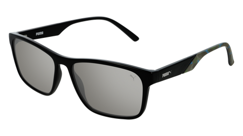 Puma - PU0199S Black Sunglasses / Silver Mirror Lenses