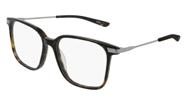 Puma - PU0206O Havana Ruthenium Eyeglasses / Demo Lenses