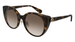 Gucci - GG0369S Havana Sunglasses / Brown Lenses
