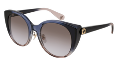 Gucci - GG0369S Blue Sunglasses / Multicolor Gradient Lenses