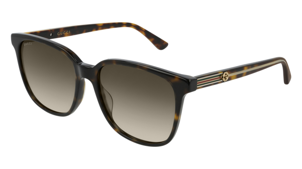 Gucci - GG0376S Dark Havana Sunglasses / Brown Gradient Lenses