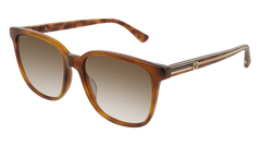 Gucci - GG0376S Blonde Havana Sunglasses / Brown gradient Lenses