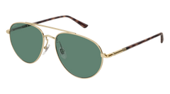 Gucci - GG0388SA Gold Sunglasses / Green Lenses