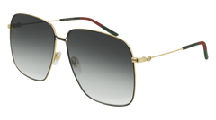 Gucci - GG0394S Gold Sunglasses / Grey Gradient Lenses
